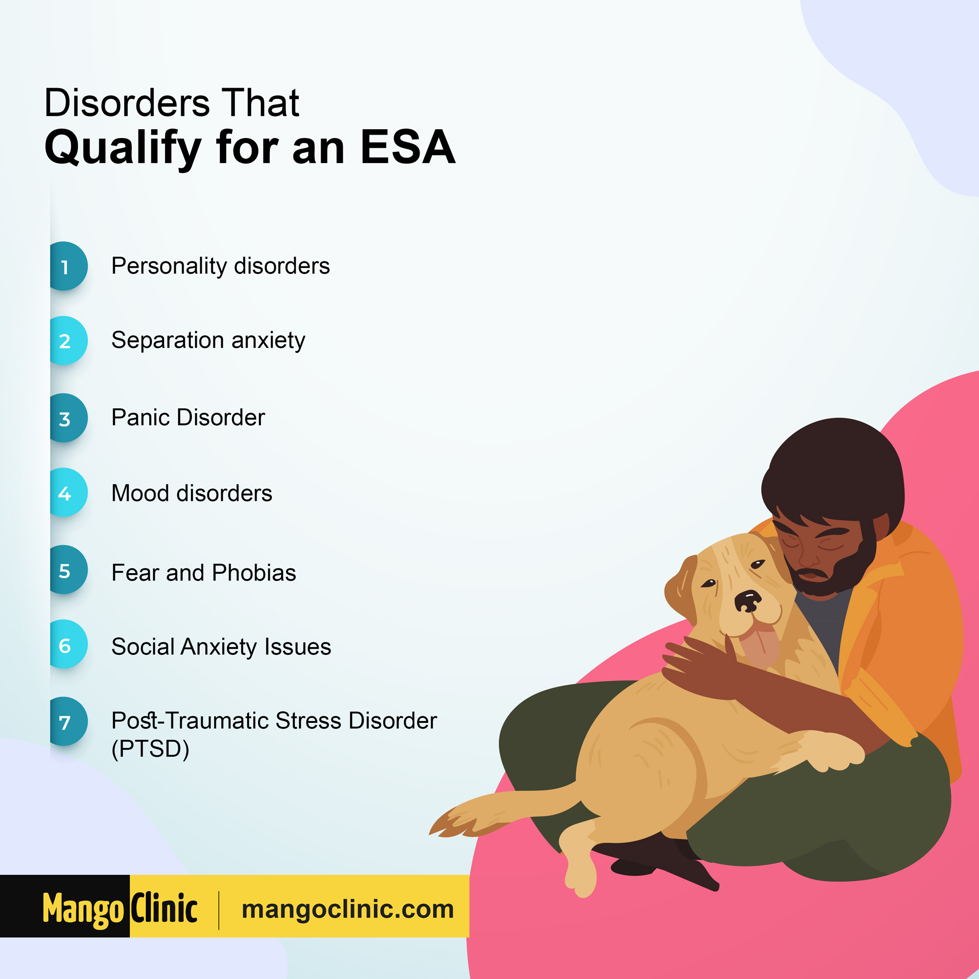 Disorders that qualify you for ESA