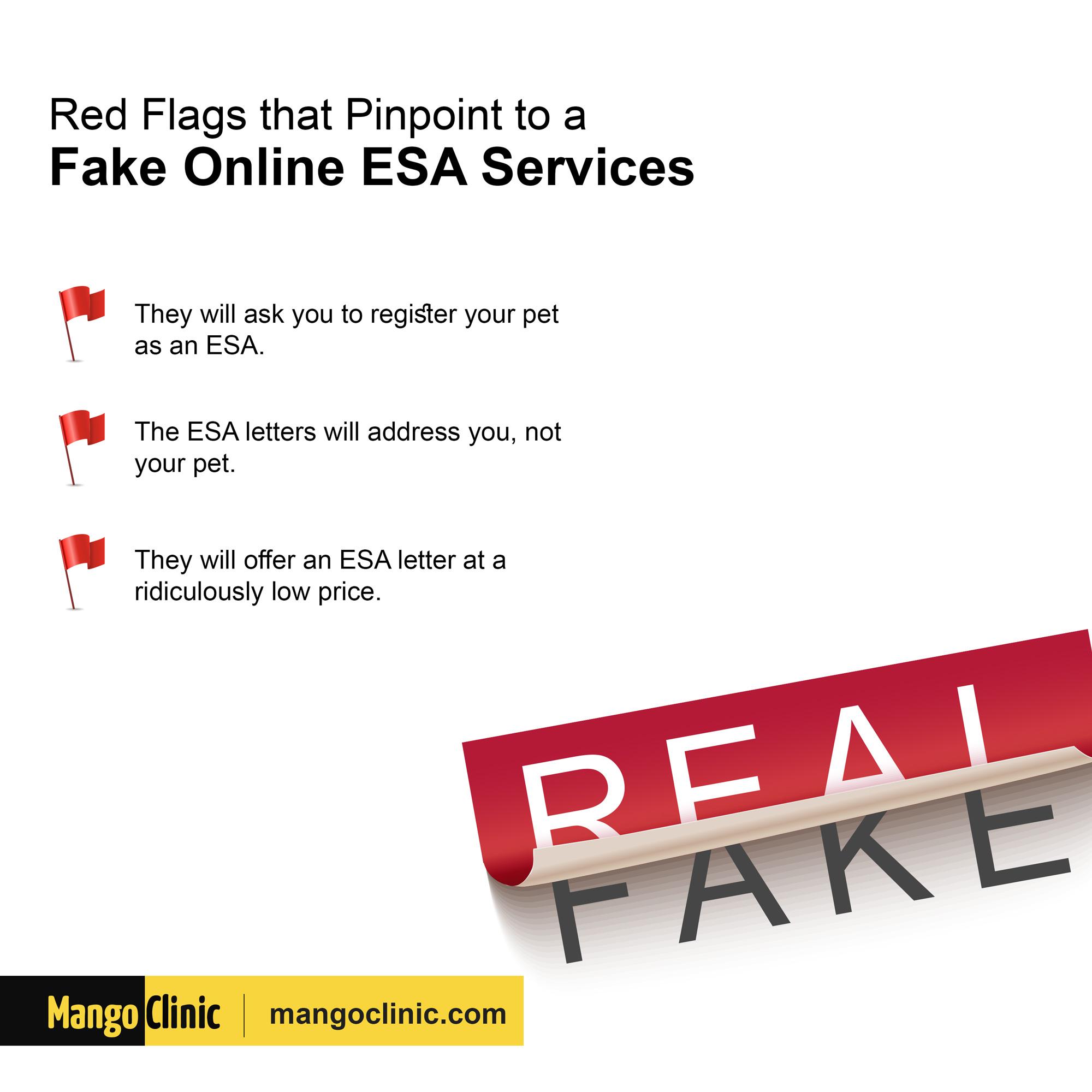 How to spot fake ESA service