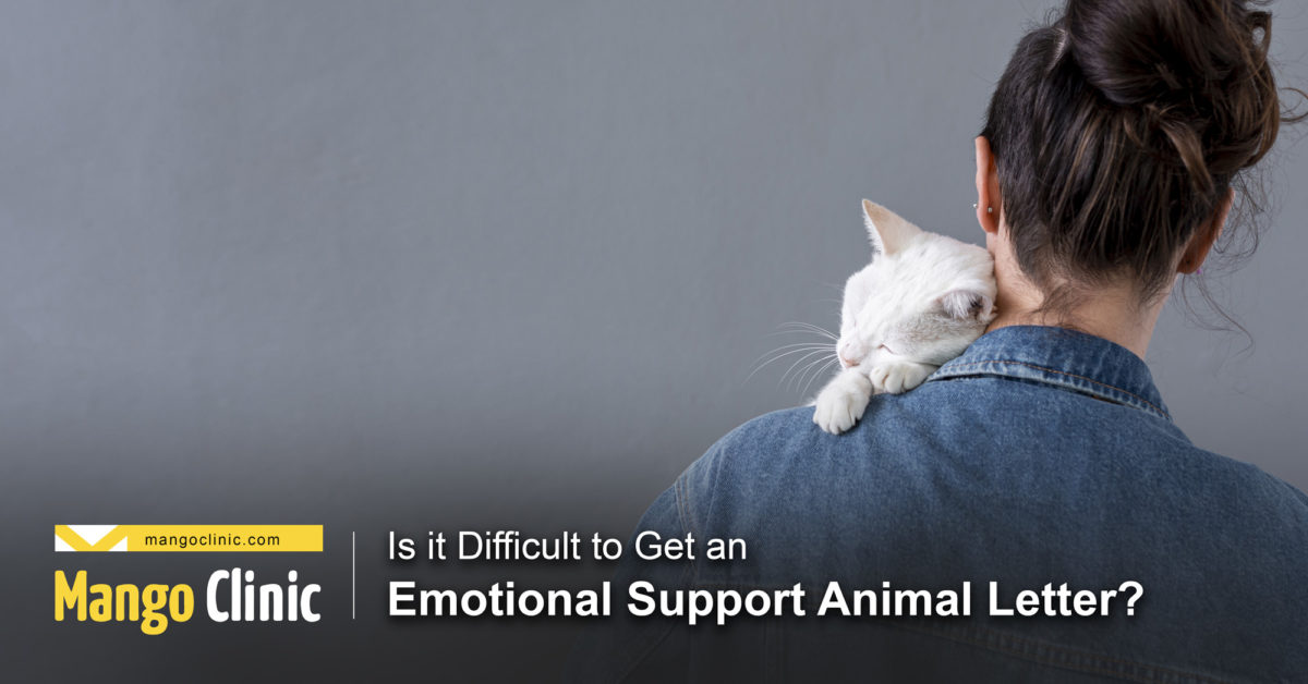 Is it difficult to get an Emotional support letter