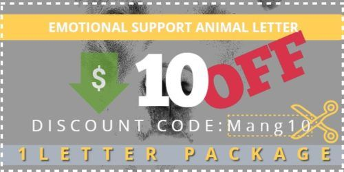 Mango Clinic Promo code for emotional support animal $10 off