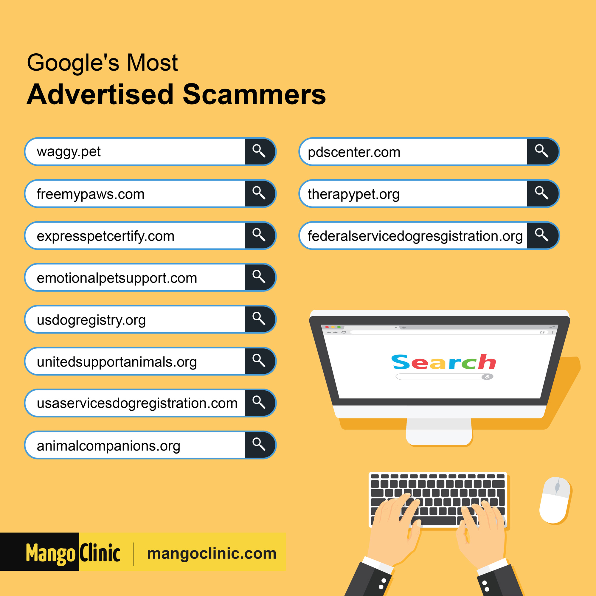 ESA letter scam advertised with Google