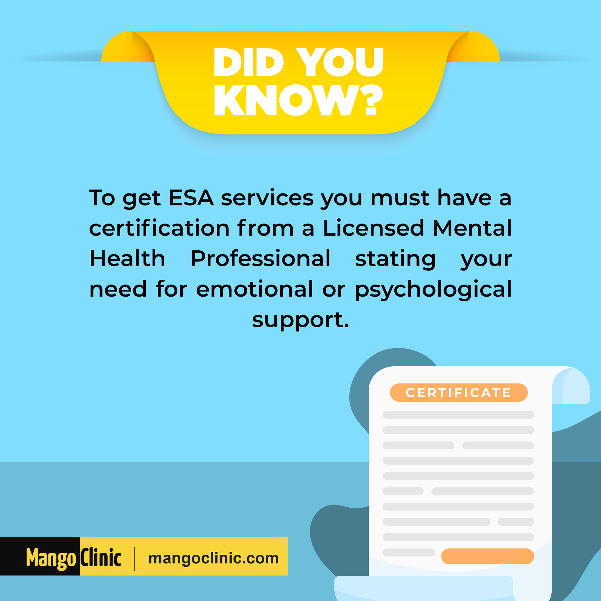What is needed to get ESA letter?