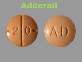 Adderall pill example