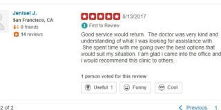 EZCare Medical Clinic Yelp Review