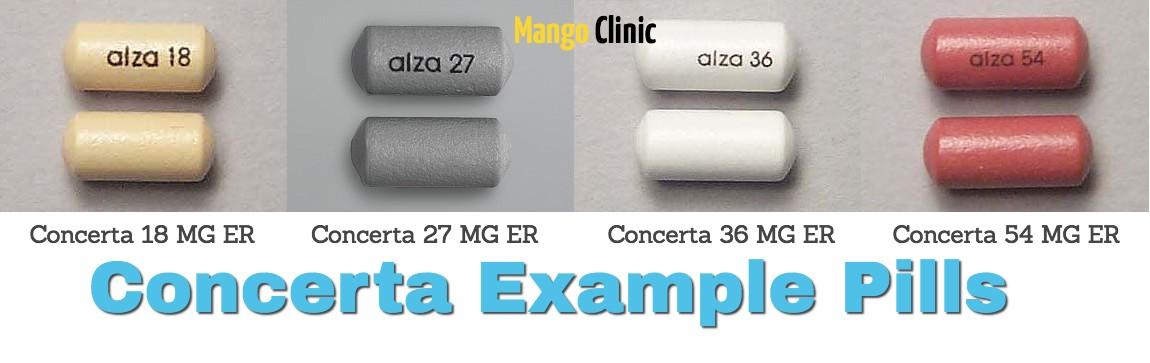 Concerta example pills