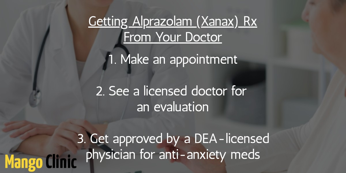 Asking your doctor for Xanax