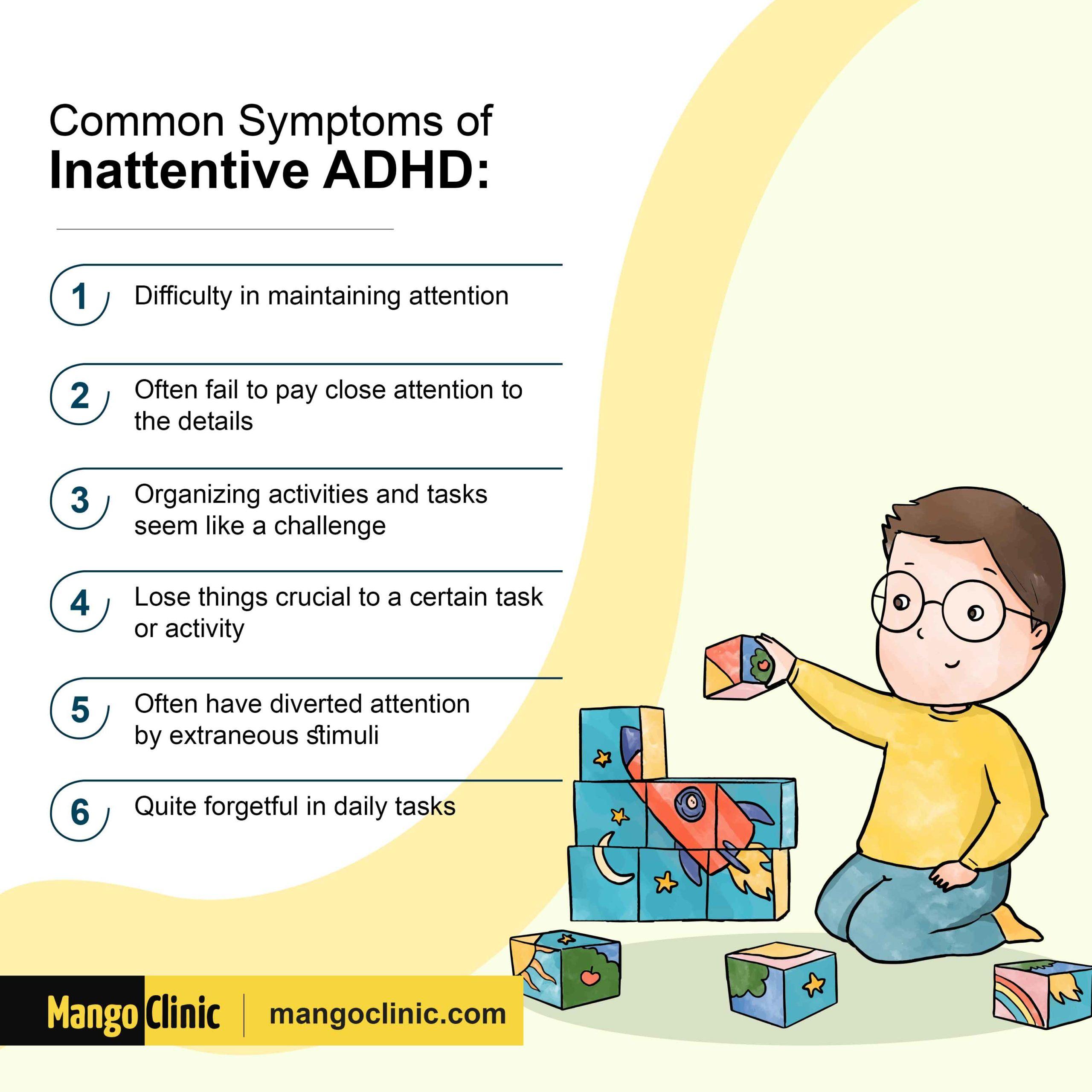 Inattentive ADHD symptoms