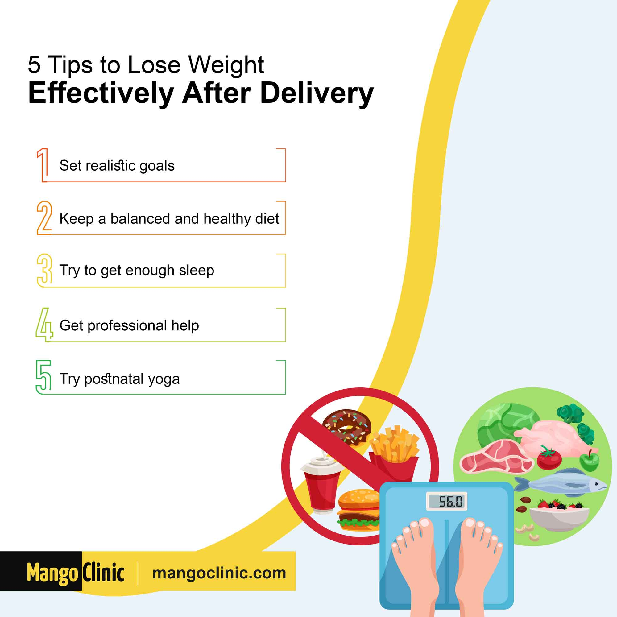 Tips to lose weight after delivery