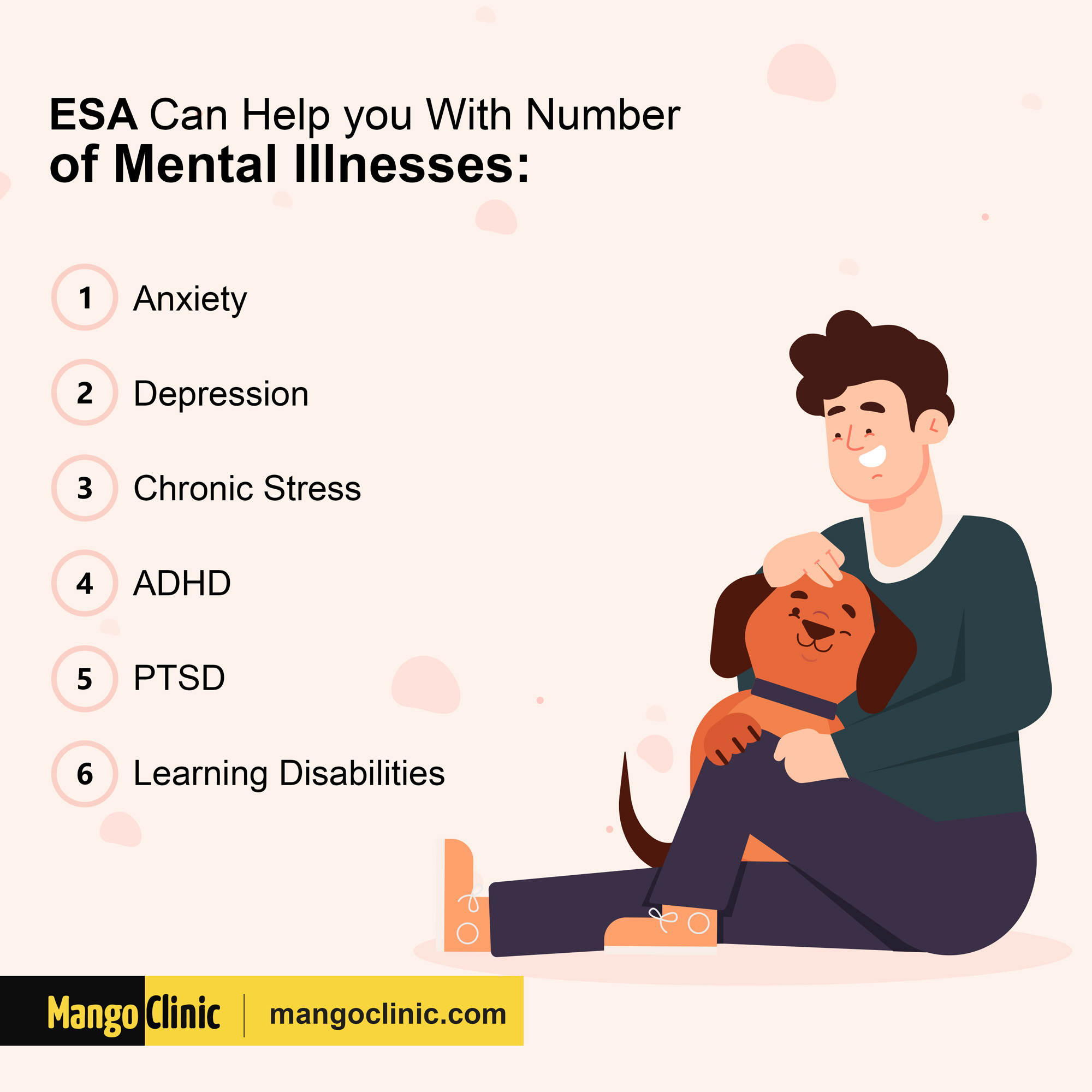 Can ESA helps with mental conditions