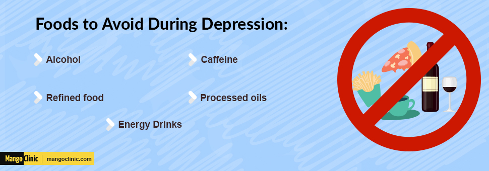Food to avoid during depression