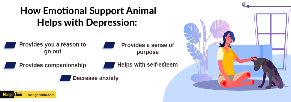 How emotional support animal help with depression