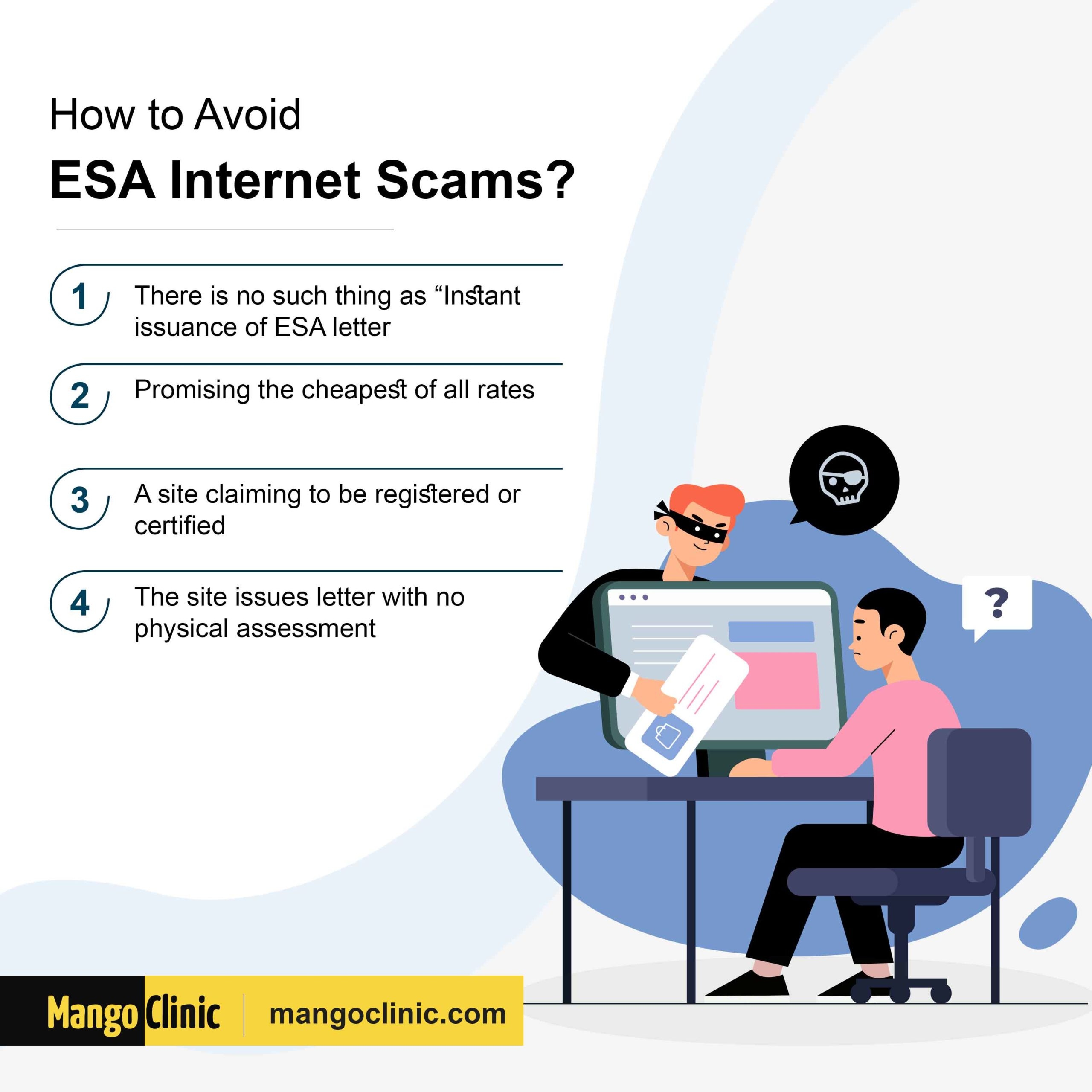 How to avoid ESA internet scams