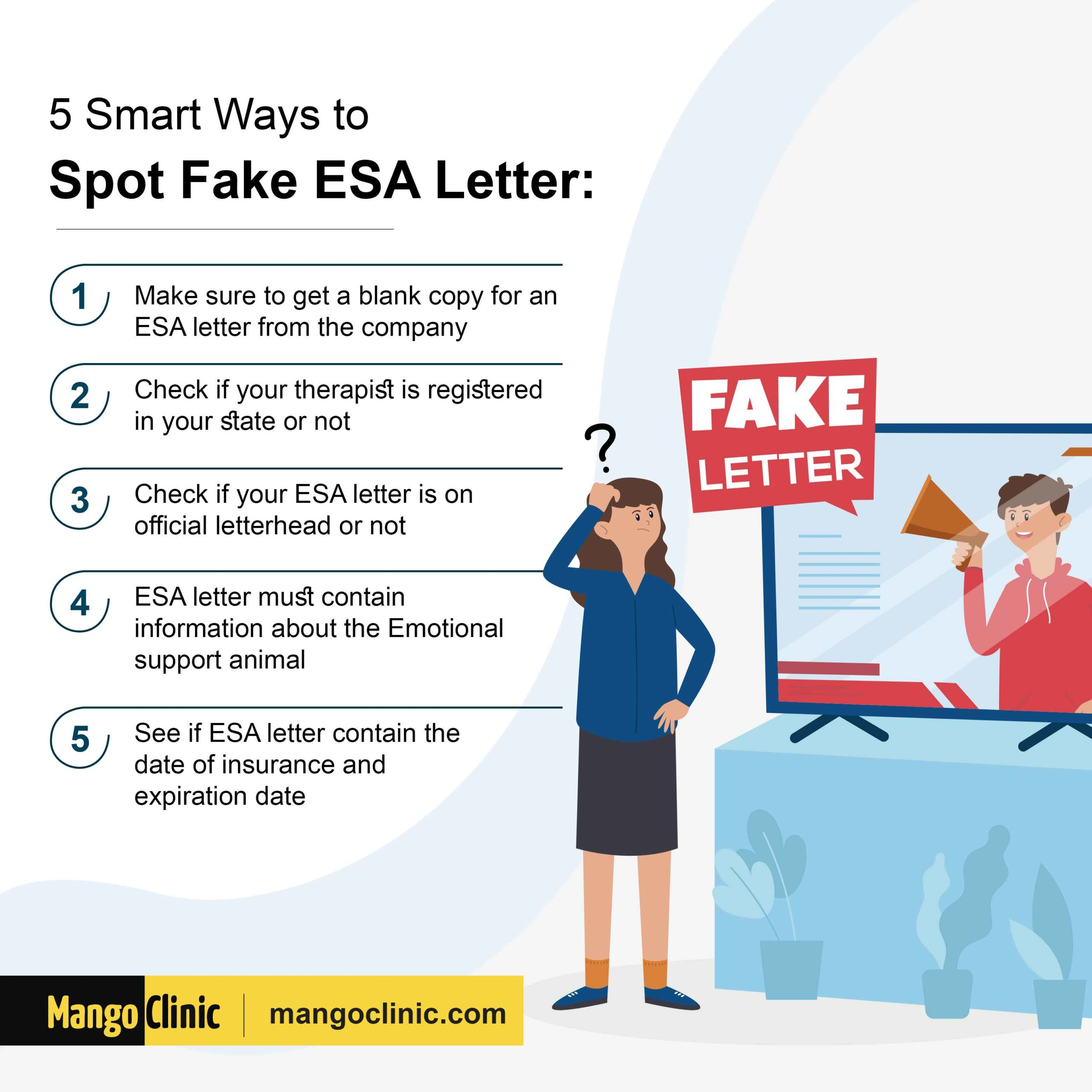 how to spot fake ESR letter
