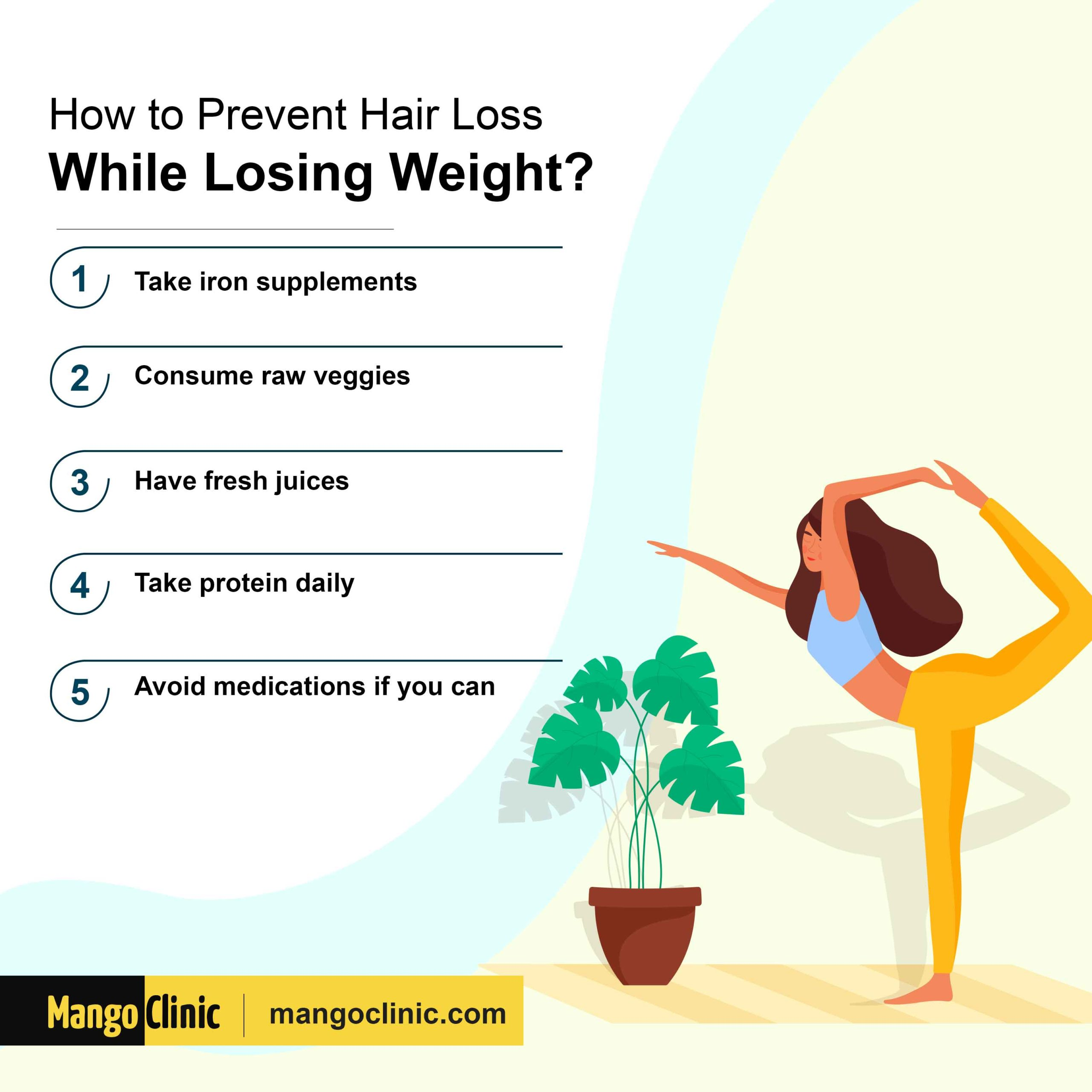 Prevent hair loss while losing weight