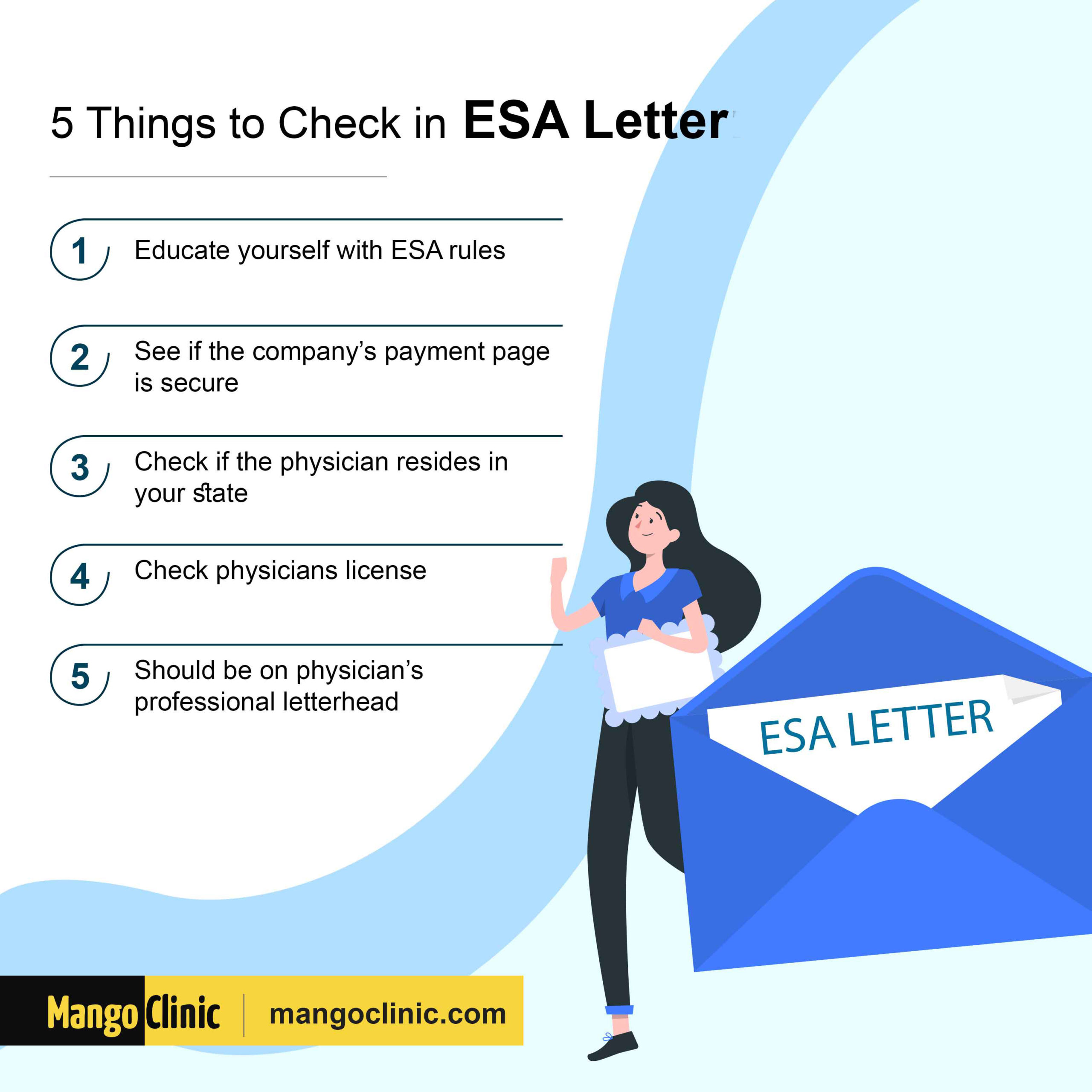 Things to check in ESA letter