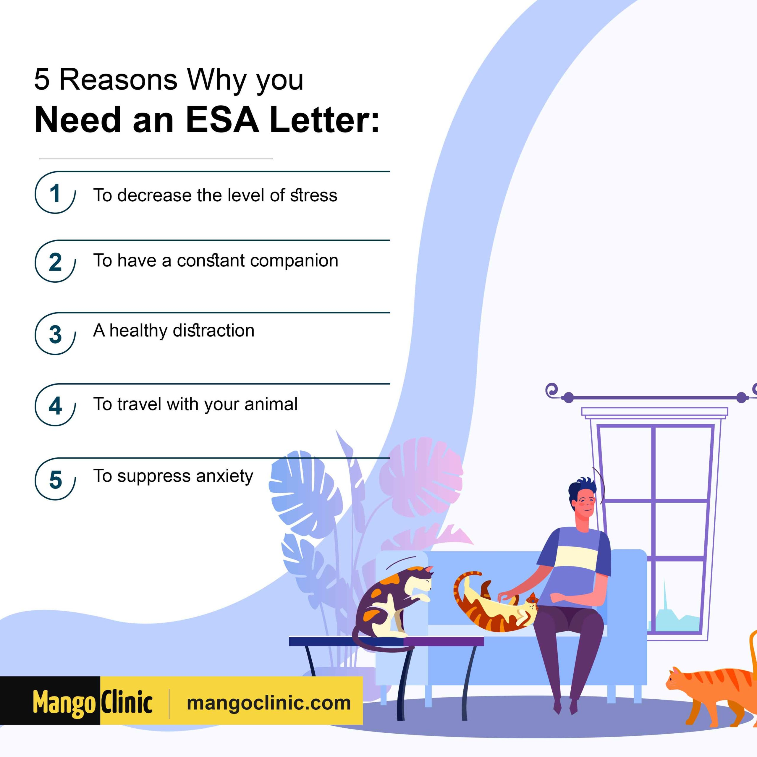 Reasons to get an ESA letter