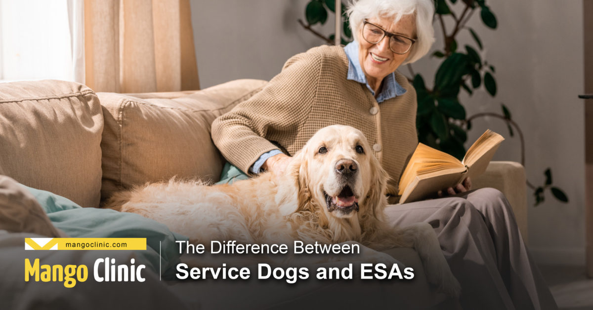 Service and ESA dog difference