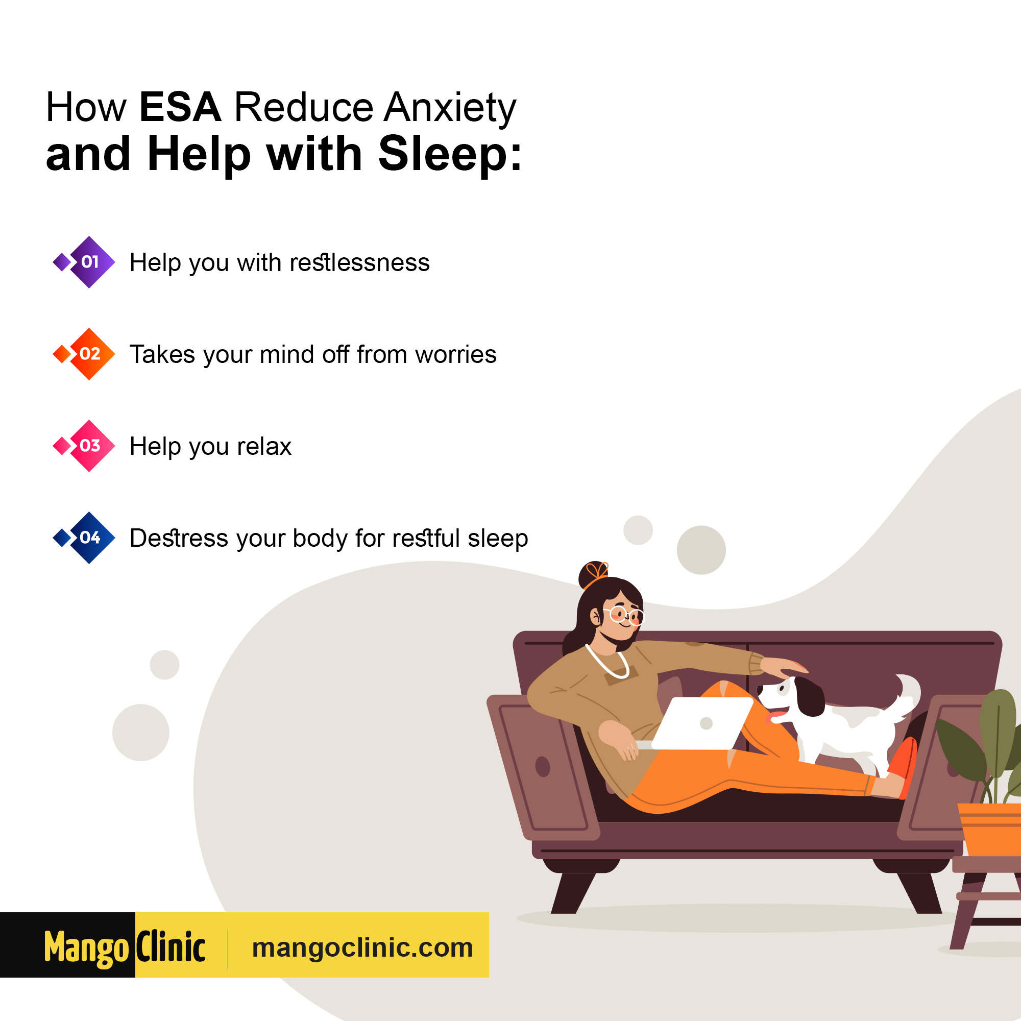 How ESA reduces anxiety