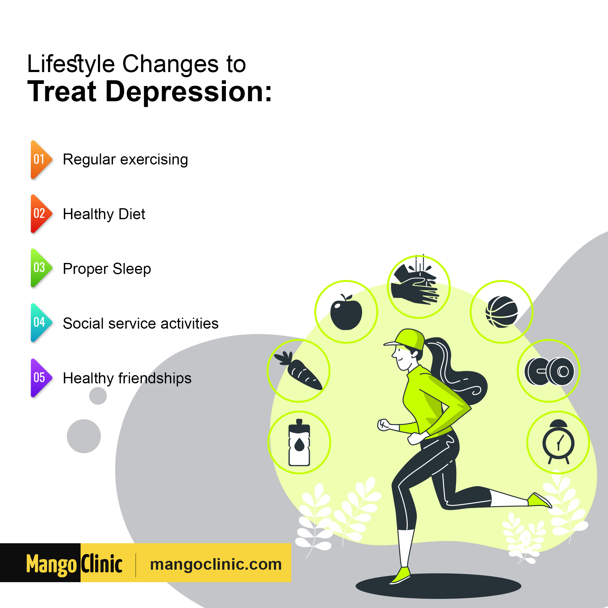 Lifestyle changes to cure depression