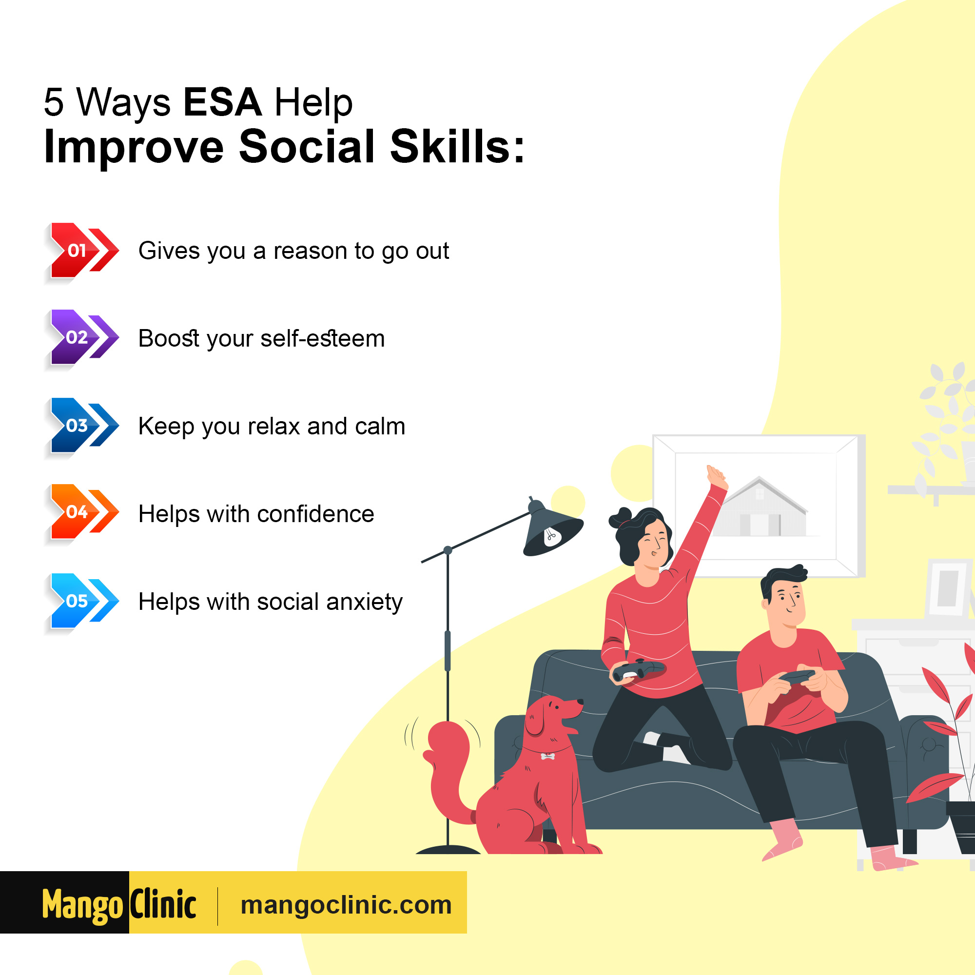 How ESA help improve social skills