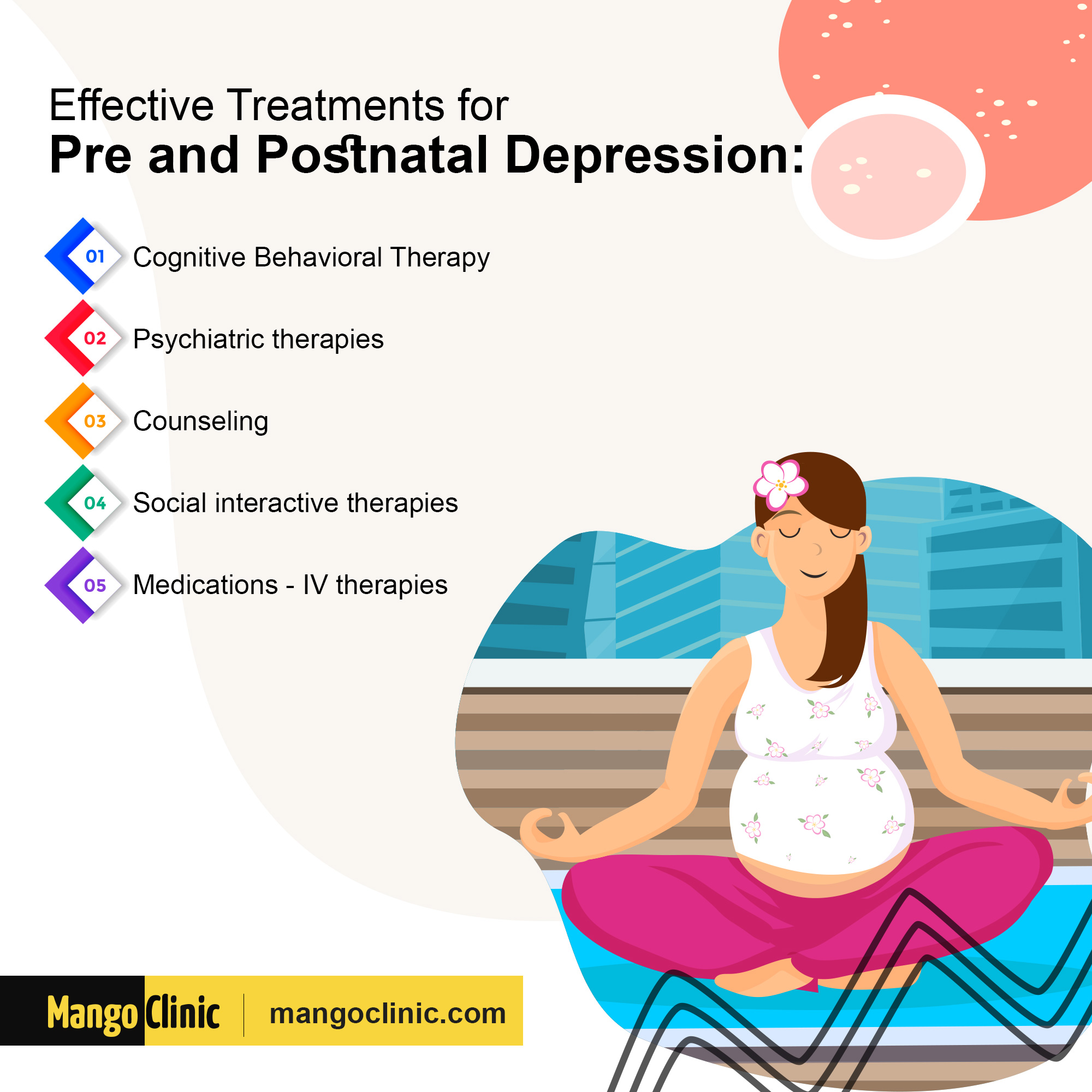 Treatments for depression during pregnancy