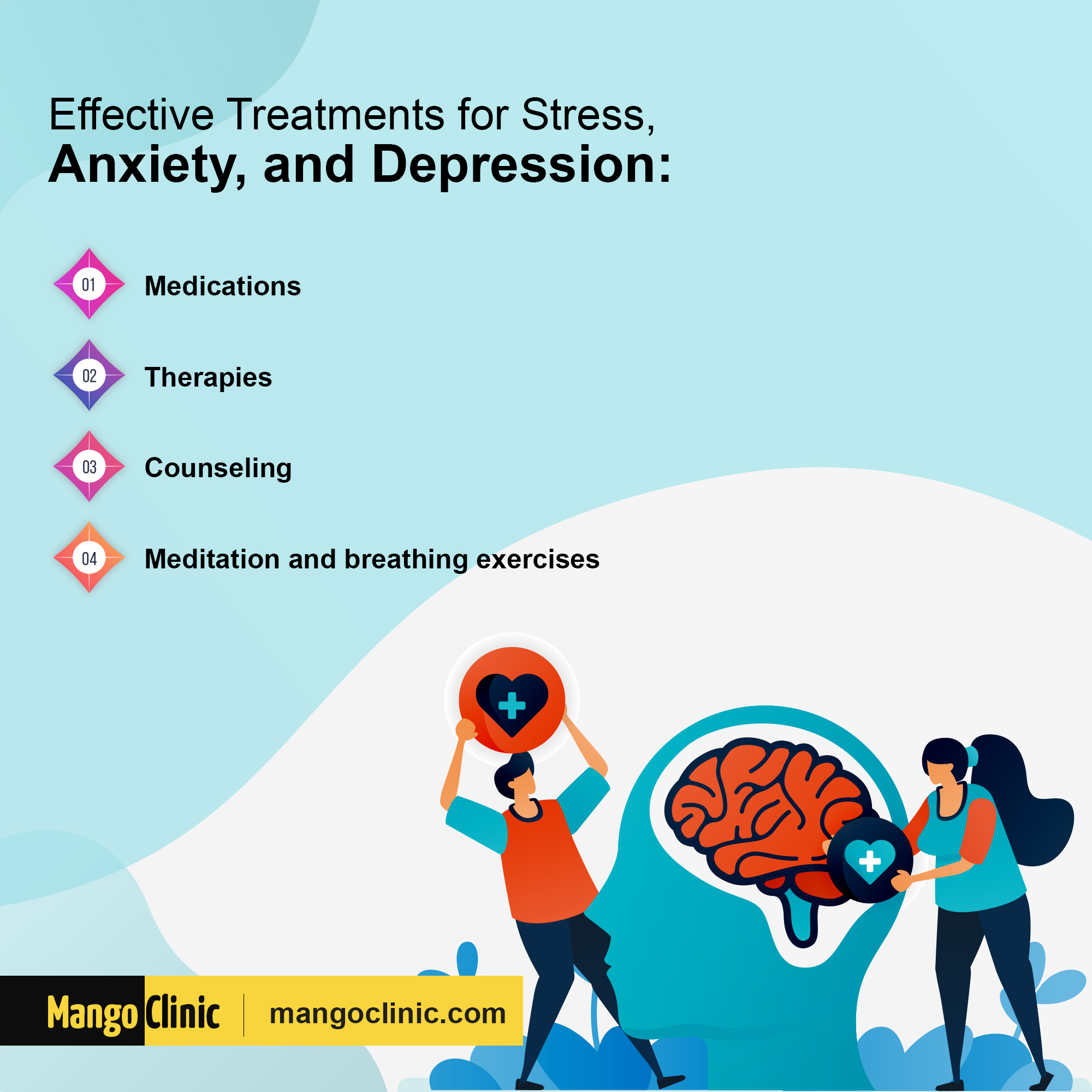 Stress, anxiety and depression treatments