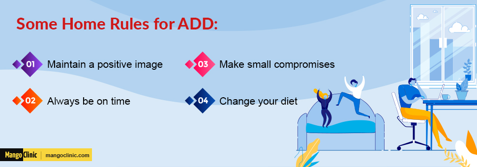 Lifestyle changes for ADD patients
