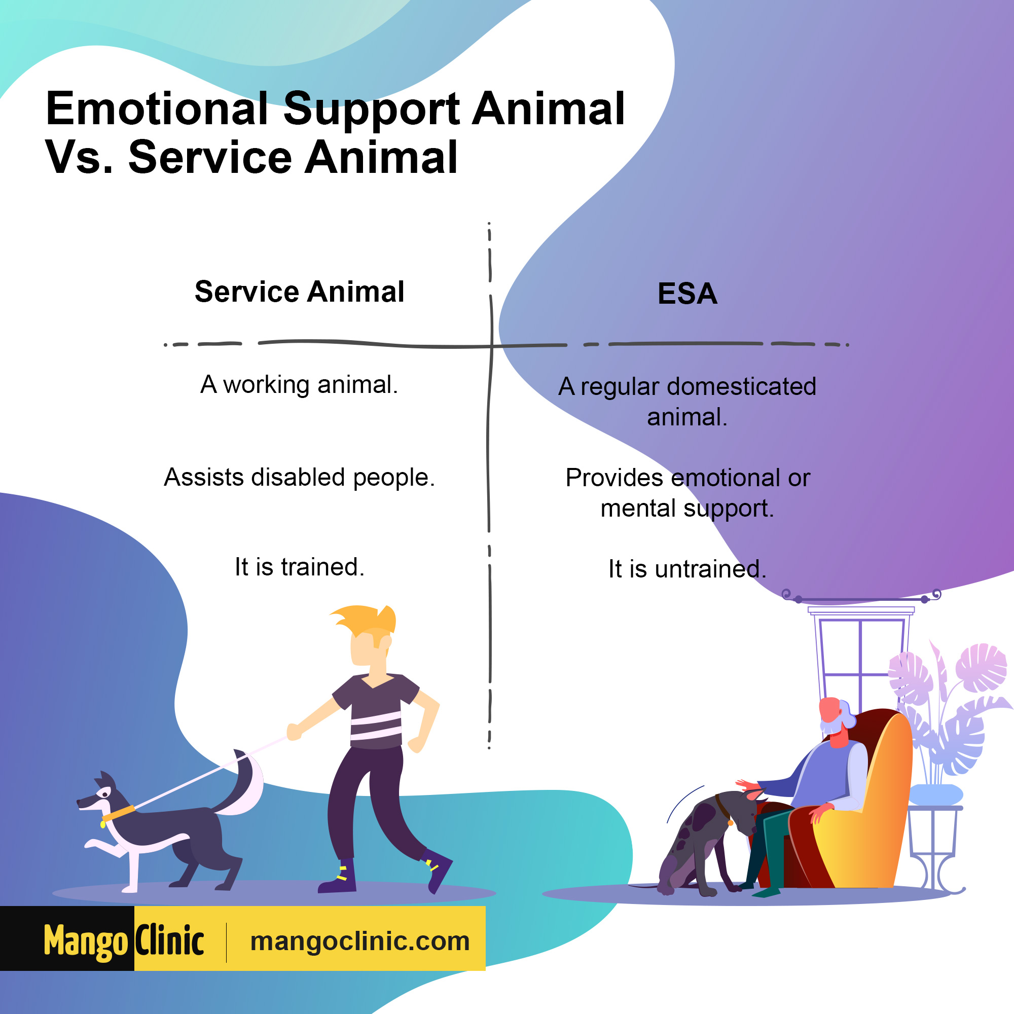 emotional support vs service animals
