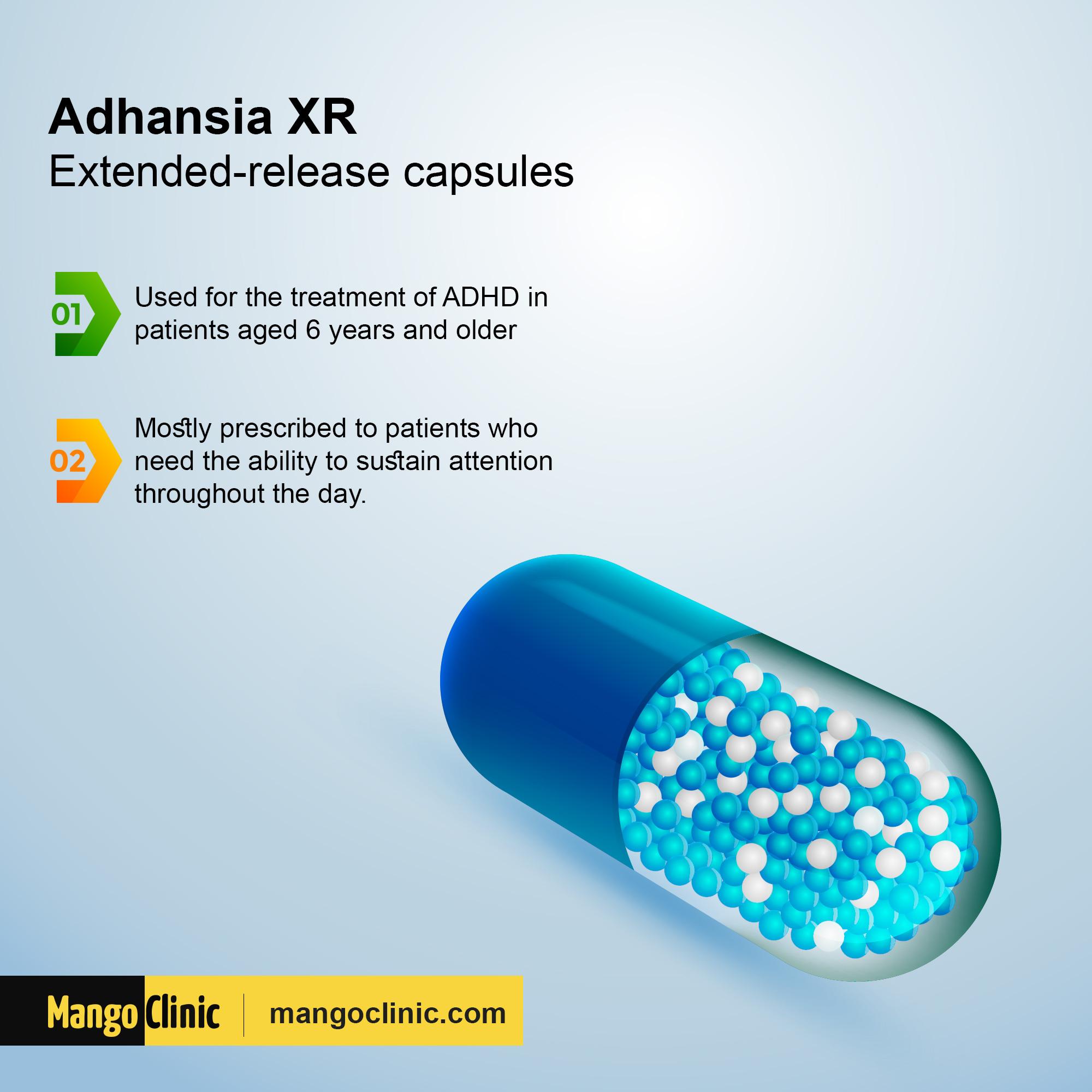 Adhansia XR for ADHD