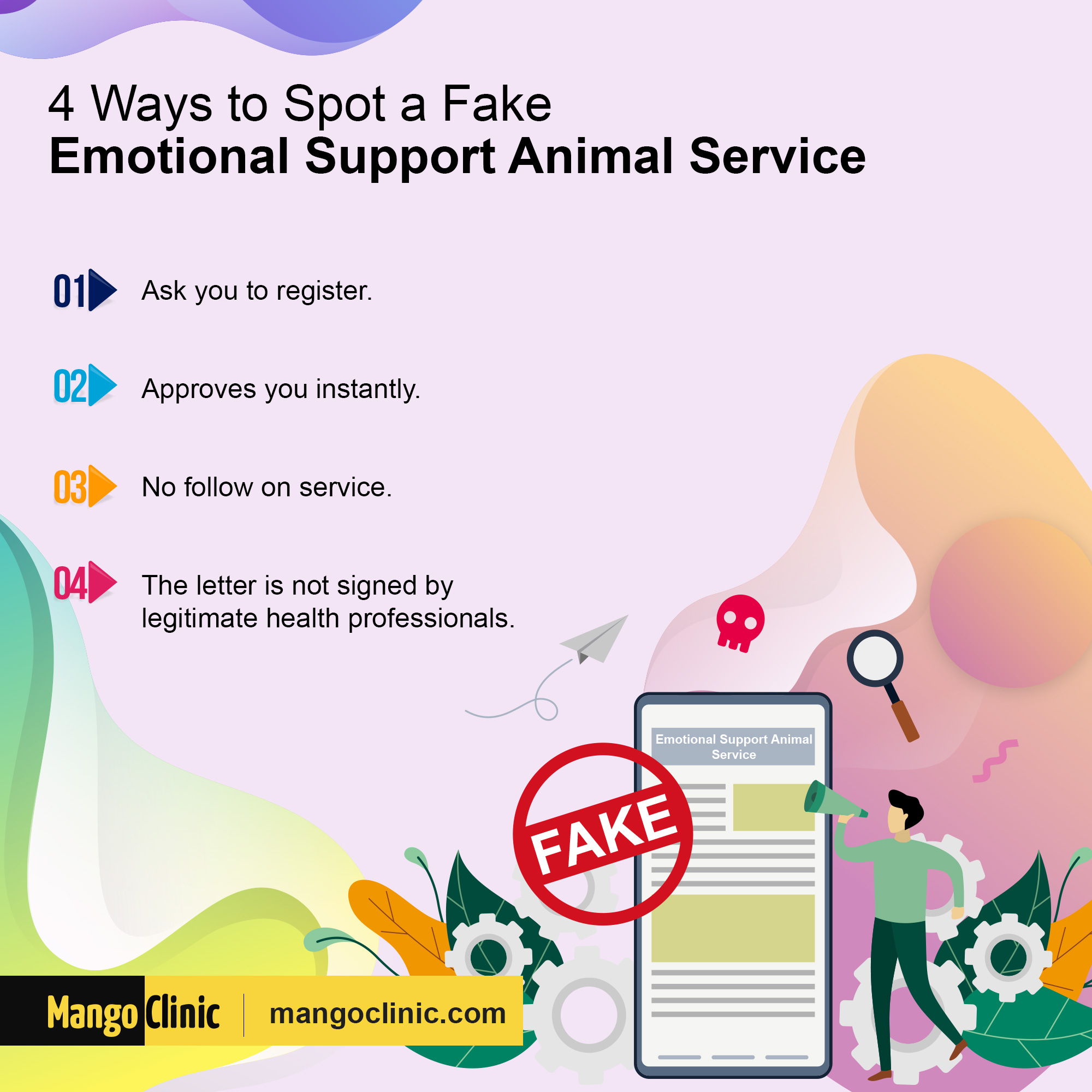 Fake emotional support animal service