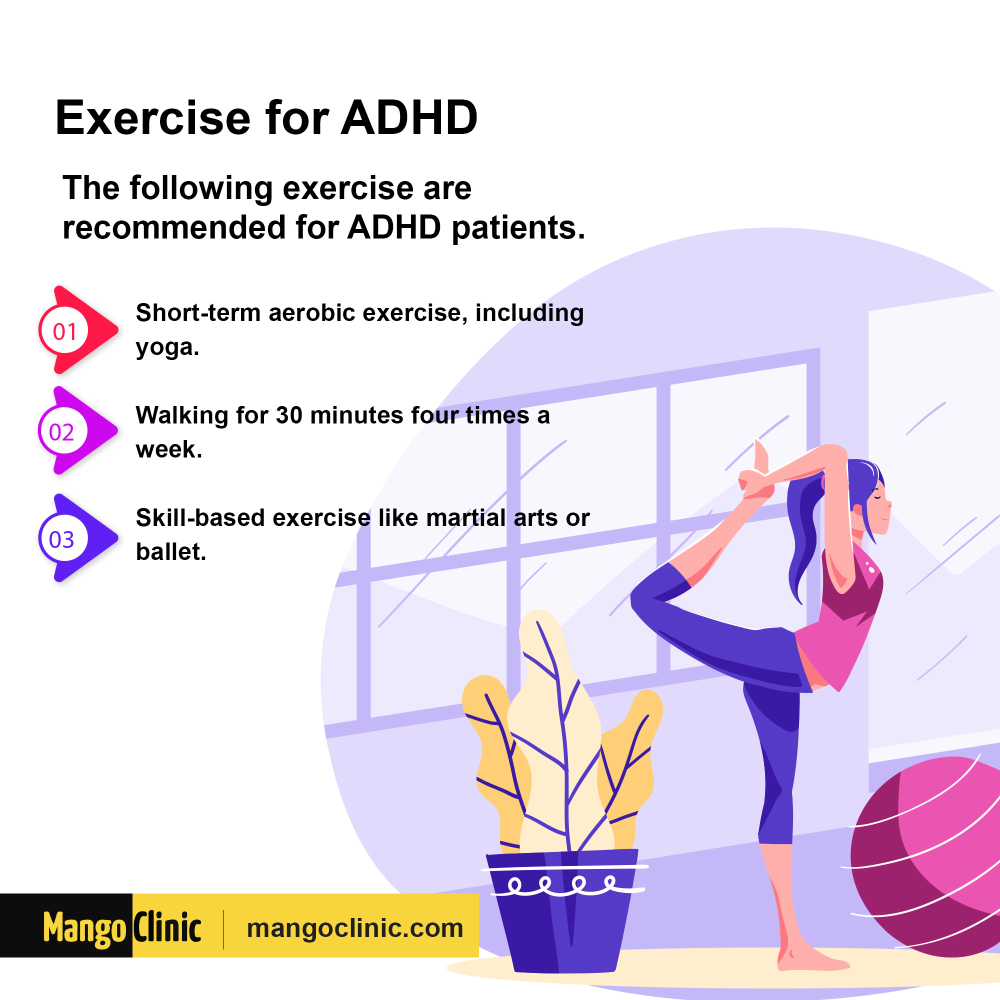 Exercises for attention deficit hyperactivity disorder