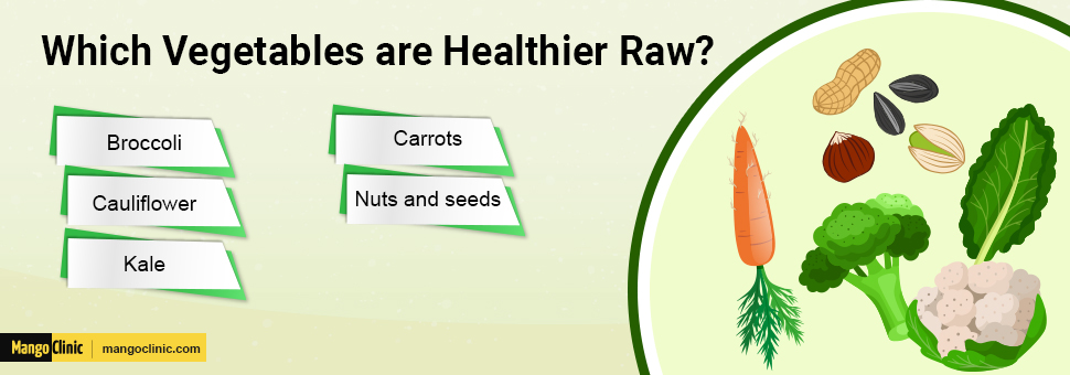 Healthy raw vegetables