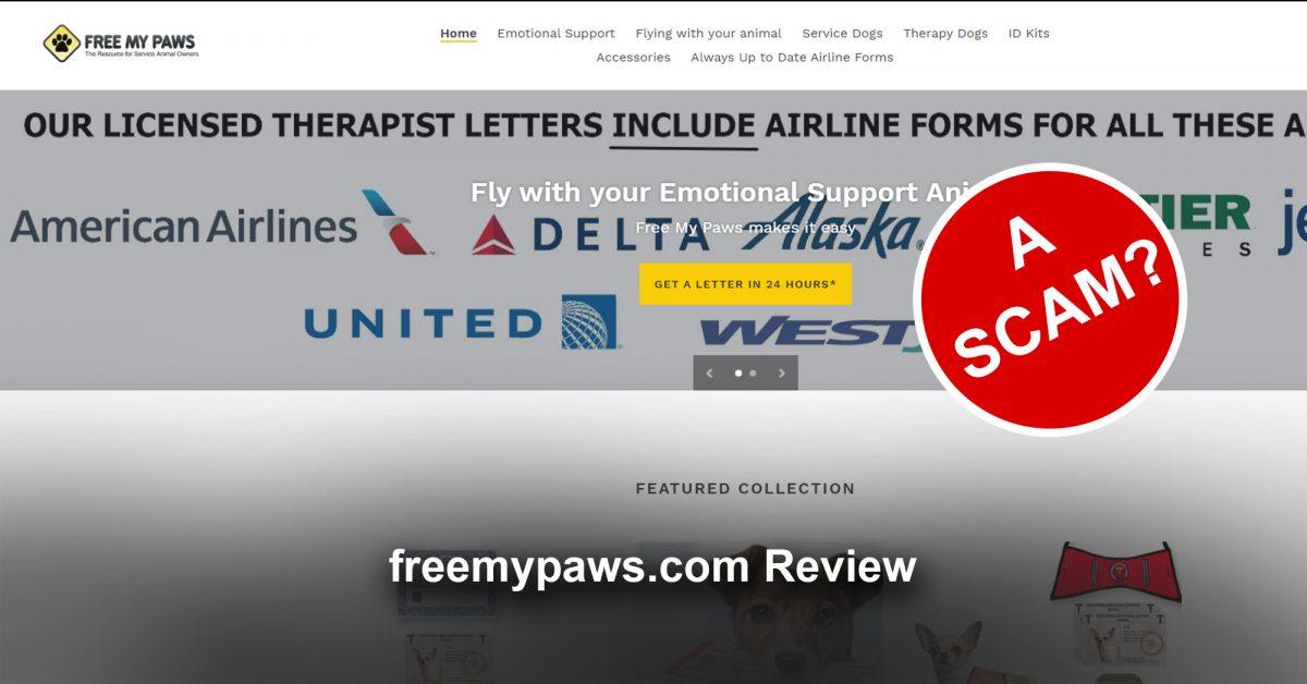 freemypaws.com -Scam