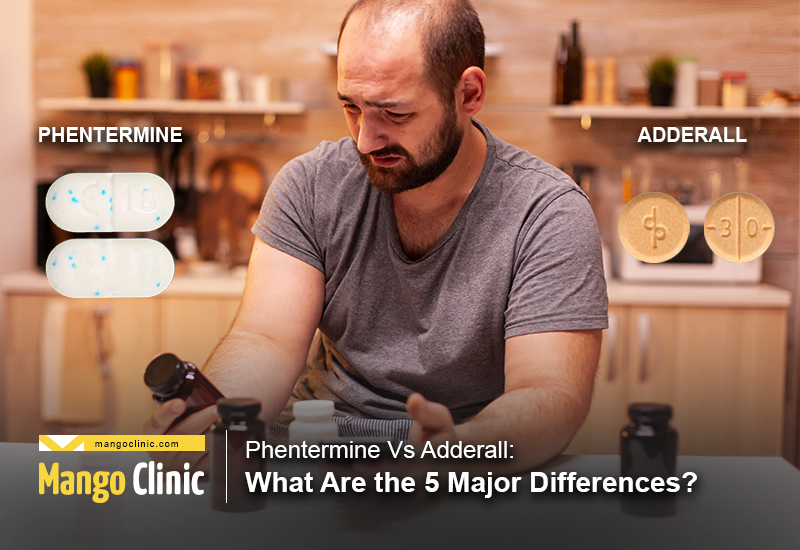 Drug Interactions of Phentermine Vs Adderall